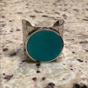 Michael Kors Silver & Turquoise Bangle